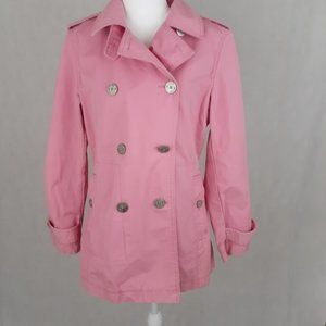 Pink Tommy Hilfiger Buttoned Trench Coat Medium